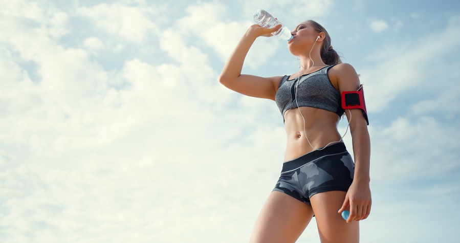 woman drinking a ketogenic drink